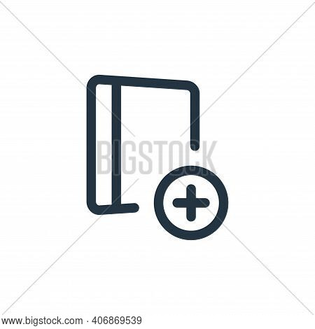 add file icon isolated on white background from file and archive collection. add file icon thin line