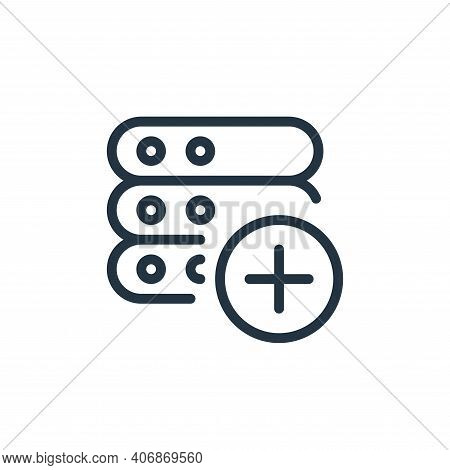 add icon isolated on white background from work office server collection. add icon thin line outline