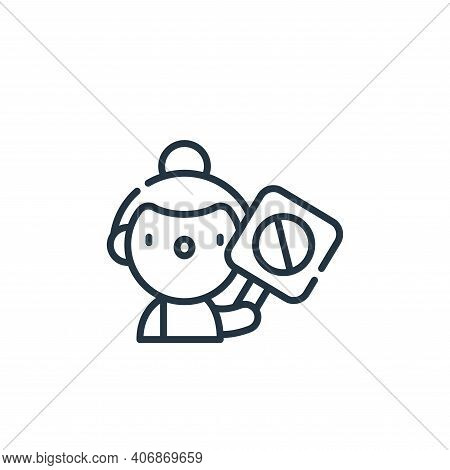 activist icon isolated on white background from animal welfare collection. activist icon thin line o