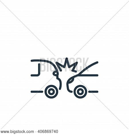 accident icon isolated on white background from insurance collection. accident icon thin line outlin
