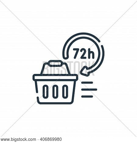 hours icon isolated on white background from delivery collection. hours icon thin line outline linea