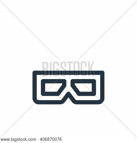 d glasses icon isolated on white background from virtual reality collection. d glasses icon thin lin