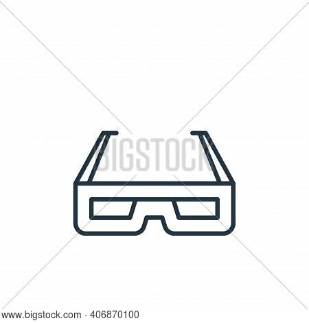 d glasses icon isolated on white background from cinema collection. d glasses icon thin line outline