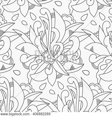 Elegant Floral Seamless Pattern. Template For Greeting Card, Invitation, Diploma, Textile. Vector Il