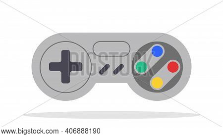 Play Game Vector Isolated Joystick Icon. Gamepad Computer Controller Sign.