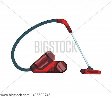 Vacuum Cleaner Modern Icon. Carpet Cleaner Item Or Washing Robot Cyclone. Cartoon Vector Cleaning Eq