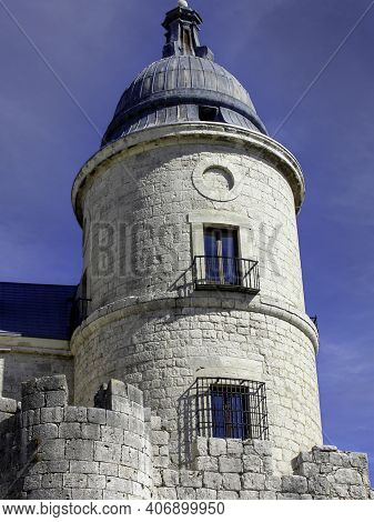 Tower Of The Castle Of Simancas Where Is The Famous And Oldest Official Archive Of The Crown Of Cast