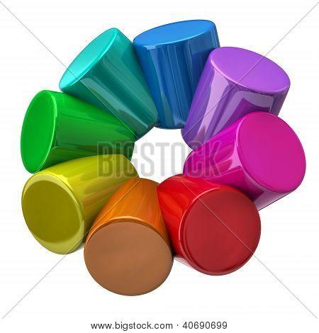 Colorful scylinders