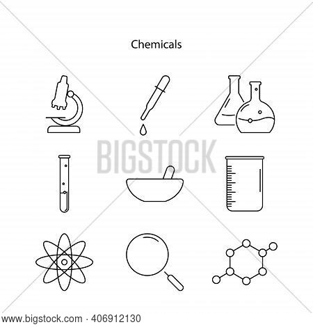 Chemical Icon Isolated On White Background. Chemical Icon Trendy And Modern Chemical Symbol For Logo