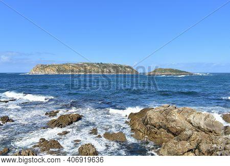 Islas Sisargas Or Sisargas Atlantic Islands Located In Costa Da Morte Region. View From Camiño Dos F