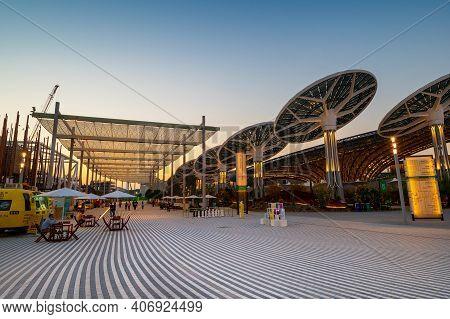 Dubai, United Arab Emirates - February 4, 2020: Terra Pavilion At The Expo 2020 Built For Expo 2020