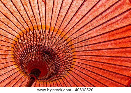 Japanese Style Red Umbrella
