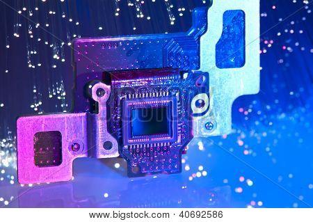 CCD sensor on a card of digital camera