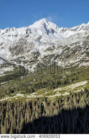 Koprovsky Peak And Mengusovska Valley, High Tatra Mountains, Slovak Republic. Hiking Theme. Winter S