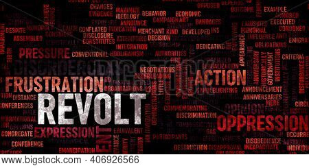 Revolt Concept as an Abstract Background Banner