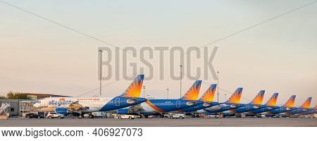 Mesa,Az,USA-1.21.21: Allegiant Air released its 4th Q and Full year financials results, with net loss at US$28.8M, and full year loss at US$193.36.