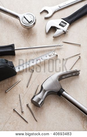 many metal tools