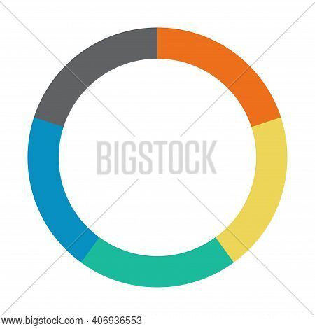 Infographic Pie Chart. Cycle Presentation Diagram 5 Section. Vector Isolated On White Background .