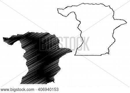 Richmond County, North Carolina State (u.s. County, United States Of America, Usa, U.s., Us) Map Vec