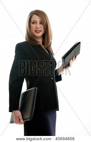 Beautiful Blond Caucasian Business Woman