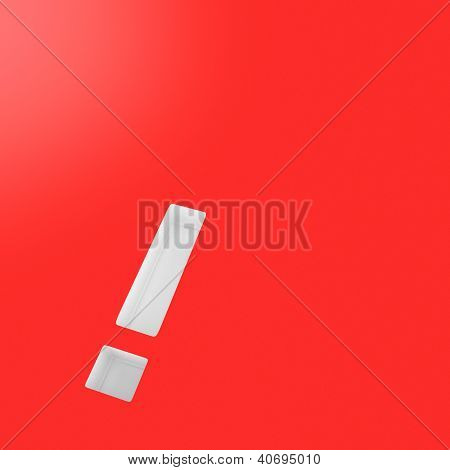 Exclamation Mark On The Red