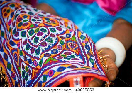indische Stickerei Handwerk