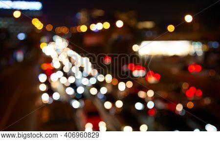 Night lights of the Beijing city