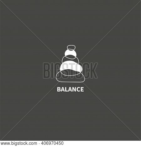 Stack Stones Logo. Wellbeing, Harmony And Balance Icon Isolated