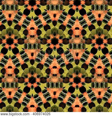 Pattern Design For Festival Event Decoration. Print Work Item For T Shirt. Background And Wall Mural