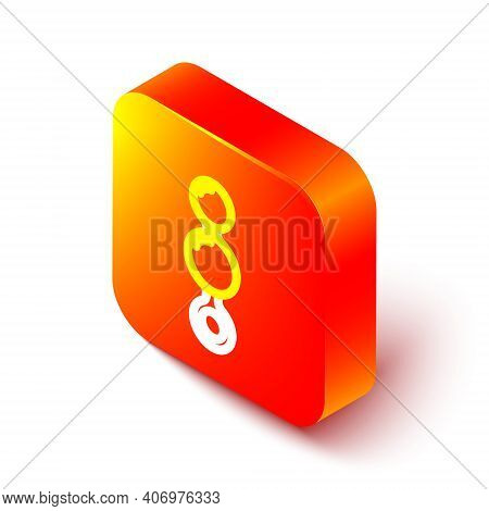Isometric Line Anal Beads Icon Isolated On White Background. Anal Balls Sign. Fetish Accessory. Sex