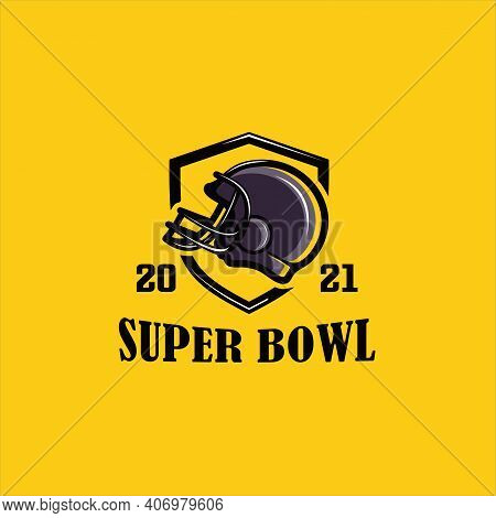 Vector Illustration Of Superbowl And American Football Badge In Manual Drawing Style, American Footb