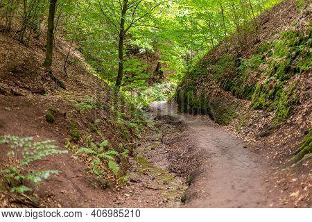 Hiking Trail In The Drachenschlucht, Dragon Gorge Near Eisenach, Thuringia