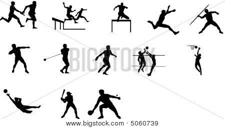 vector sport people