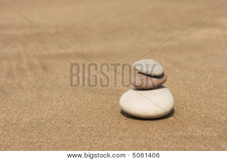 Stones On The Sand