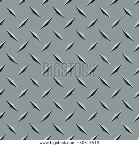 Non-skid Treadplate Steel Seamless Pattern