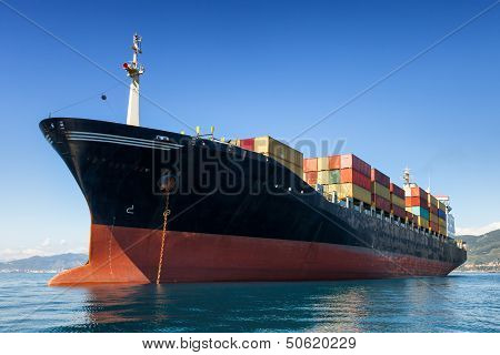 Cargo Containers Ship
