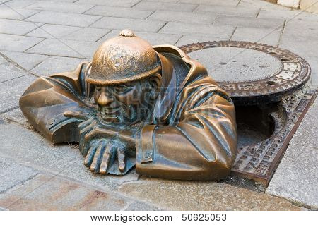 Bronze Sculpture Called Man At Work