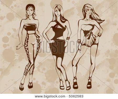 The Sketch Of A Summer Female Fashion