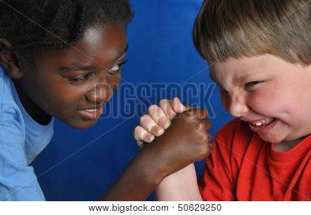 Boys armwrestling