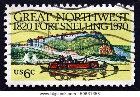 Postage Stamp Usa 1970 Fort Snelling, Minnesota