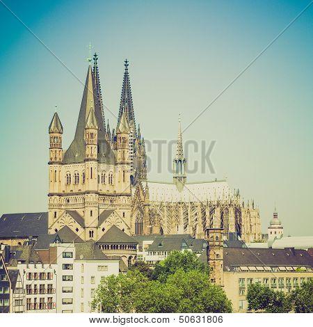 Retro Look Koeln Panorama