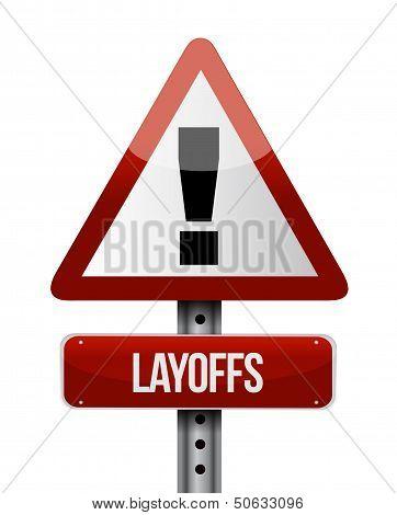 Layoffs Road Sign Illustration Design