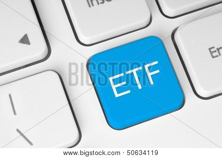 ETF (Exchange Traded Fund) blue button