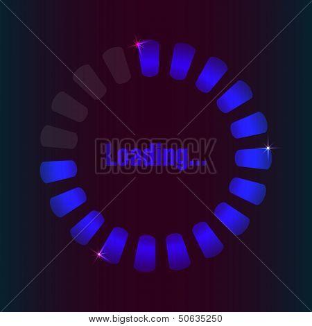 Blue Loading Bar With Special Plasma Design