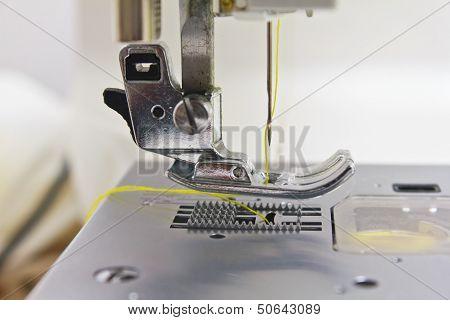 Close - Up der Nähmaschine