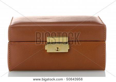 Brown Leather Jewelery Box
