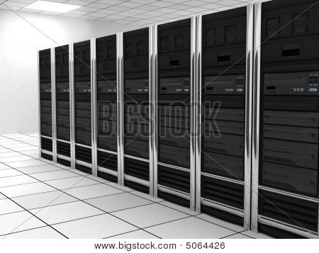 presentation server-room of the server on earth poster