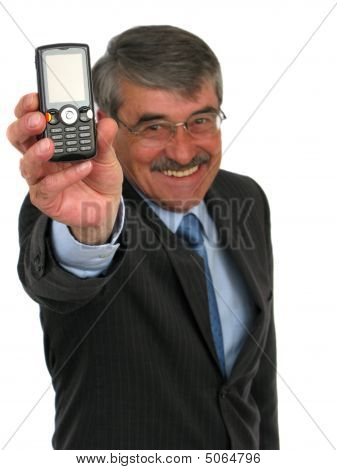 Businessman Holding Cell-phone