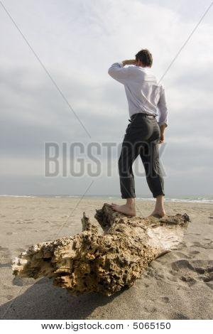 Shipwrecked Businessman