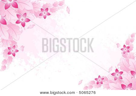 Spring Background In Pink